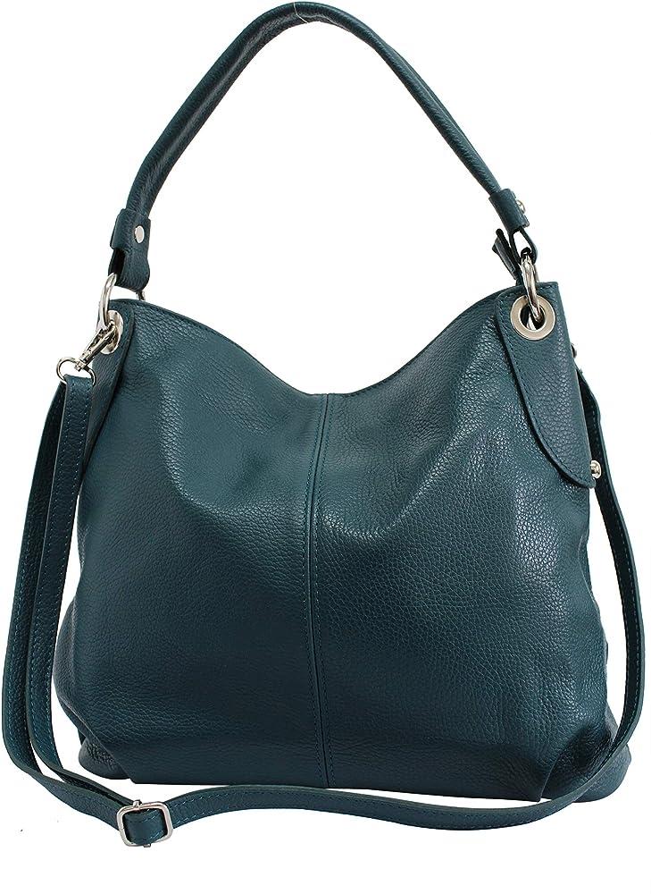 Ambra moda borsa da donna a spalla/tracolla in vera pelle GL012G