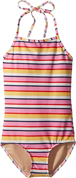 Toobydoo Sunshine Stripe One-Piece Swimsuit (Infant/Toddler/Little Kids/Big Kids)