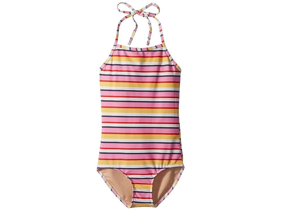 Toobydoo Sunshine Stripe One-Piece Swimsuit (Infant/Toddler/Little Kids/Big Kids) (Multi) Girl