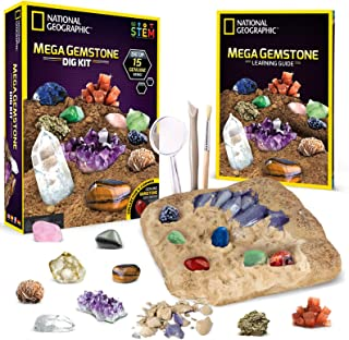 Mega Gemstone Mine - Dig Up 15 Real Gems with NATIONAL GEOGRAPHIC