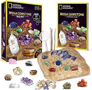 NATIONAL GEOGRAPHIC Mega Gemstone Dig Kit – Dig Up 15...
