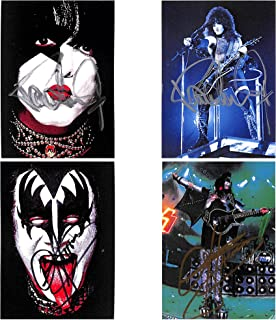 KISS Deluxe Trading Card Autograph Set of 4 Gene Simmons & Paul Stanley