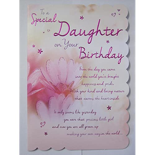 STUNNING TOP RANGE WONDERFULLY WORDED 5VERSE TO A SPECIAL DAUGHTER BIRTHDAY CARD