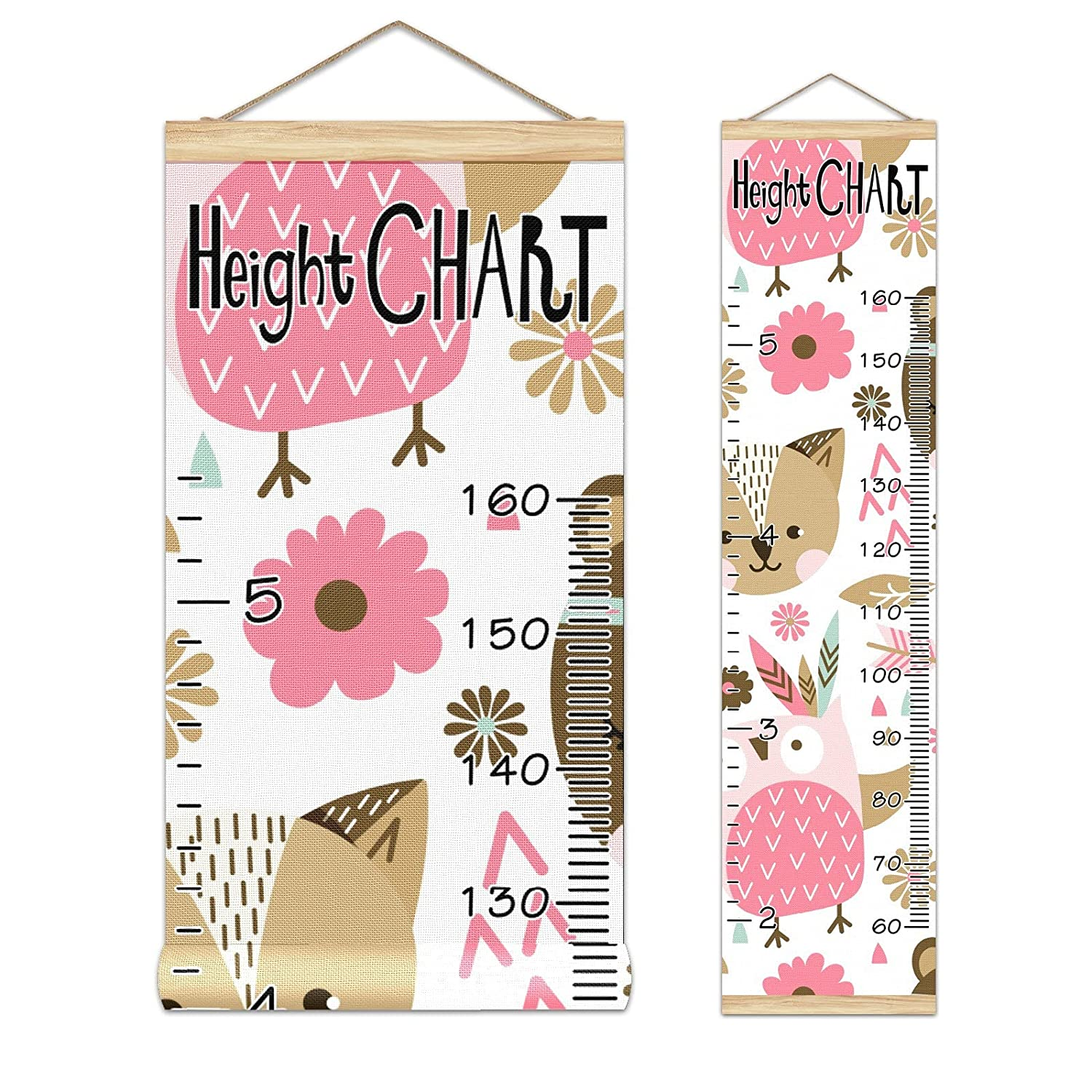 Growth Chart Kid's Height Pattern-01 Ranking TOP2 At the price C Animals Pink