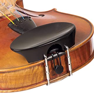 Flat Flesch 4/4 Violin Chinrest - Ebony with Standard Bracket