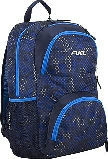 Valor Everyday Backpack with Interior Tech Sleeve, Royal Blue/Navy/Hexagon Print