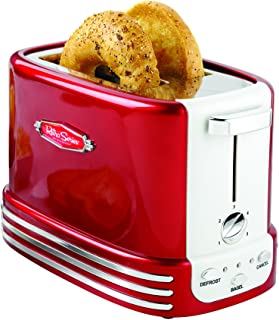 Nostalgia New and Improved Wide 2-Slice Toaster, Perfect For Bread, English Muffins, Bagels, 5 Browning Levels, With Crumb...