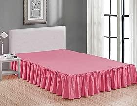 Best pink bed skirt queen Reviews