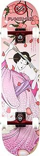 Punisher Skateboards Samurai Complete Skateboard with Convace Deck, Pink