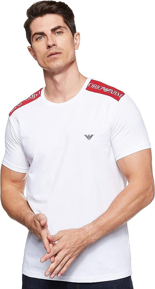 Emporio armani t-shirt, maglietta a maniche corte per uomo, 95% cotone, 5% elastan 211819 0P462