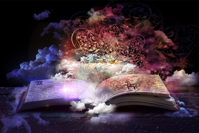 Poster 0443 Postereck Frauen und Zaubervogel Fantasie Magie Phoenix Zauber