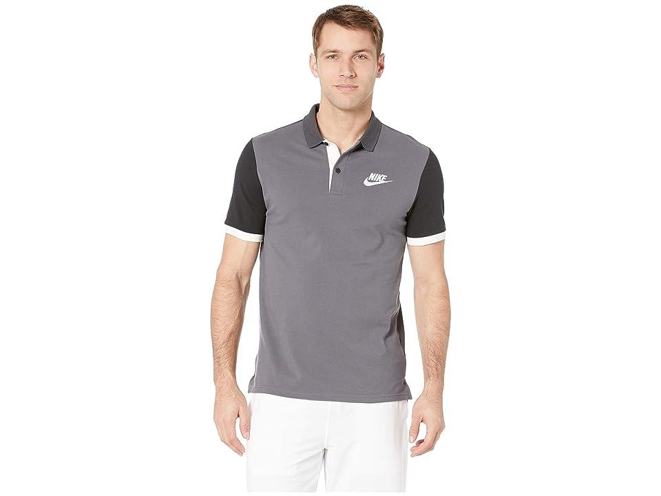 Nike NSW Matchup Pique Polo (Dark Grey/Anthracite/Black/White) Men