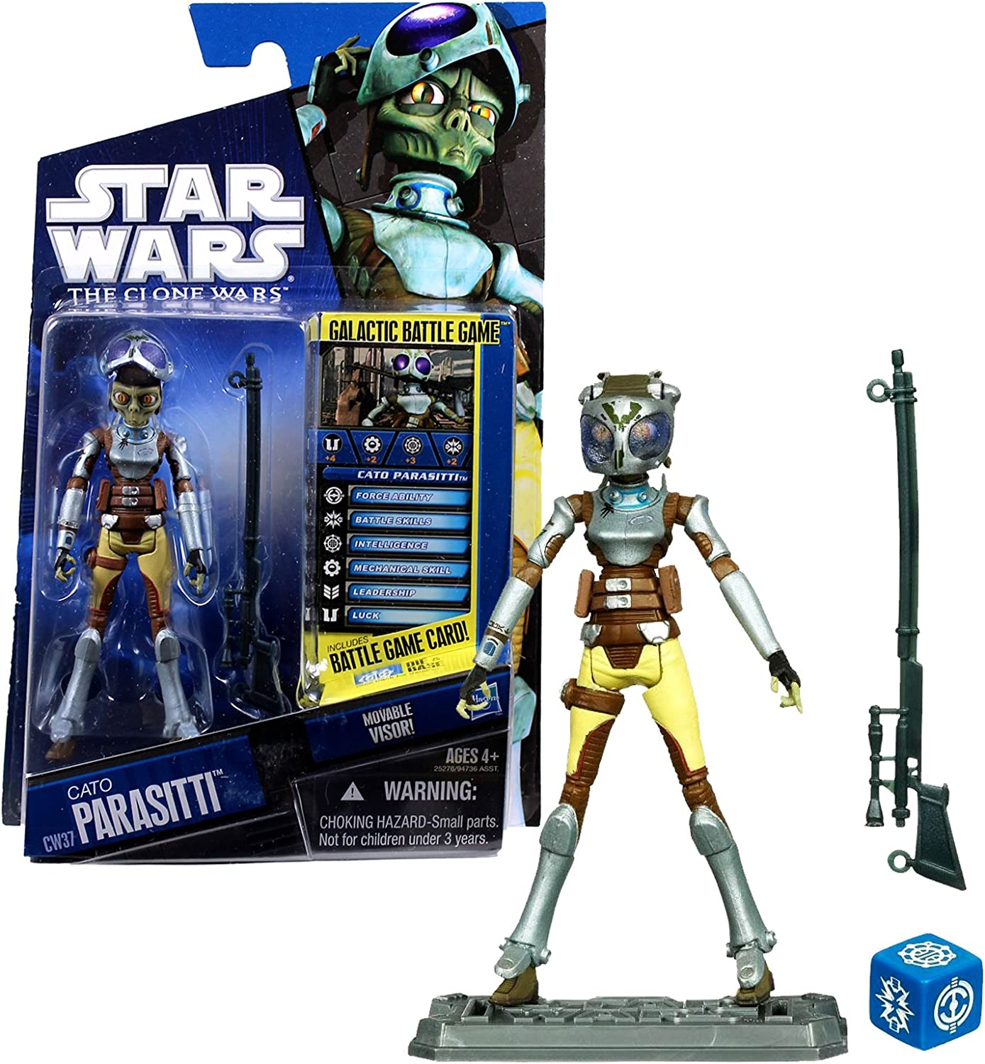 Hasbro Toys Star Wars 2010 Clone Wars Animated Action Figure CW No. 37 Cato Parasiti