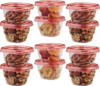 Rubbermaid - 1803522 Mini Food Storage Containers, (0.5 Cup), (12 Pack)