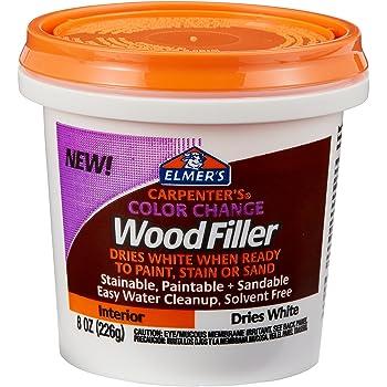 Elmer's Carpenter's Color Change Wood Filler, 8 oz., White (E916)