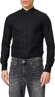 Calvin Klein Jeans Men's Stand Collar Slim Shirt