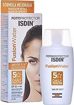 ISDIN - Fotoprotector Fusion Water SPF 50 - Protector solar facial de fase acuosa para uso diario, 50 ml