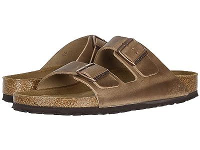 Birkenstock Arizona Soft Footbed Leather (Unisex) (Tobacco) Sandals