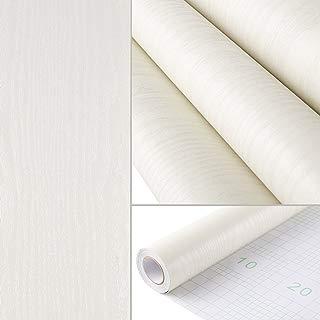 "HOMFA Wallpaper 44.1 Square feet, Self-Adhesive Easy to Peel and Stick, Modern Fashion Print Embossed Stripe for Livingroom, Bedroom, Home Wall Decor, Off White 16.1"" x 32.8 feet"