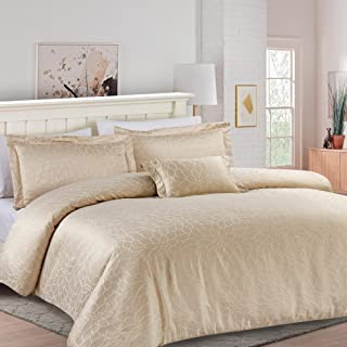 California Design Den Hotel Royal Bloom Down Alternative Comforter Set, King, Champagne, 4-Piece