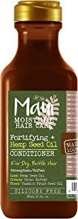 Maui Moisture Fortifying + Hemp Seed Oil Hydrating Vegan Conditioner for Dry Hair, Silicone-Free & Sulfate-Free Surfactant...