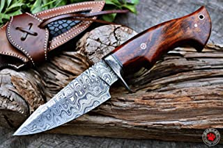 Custom Handmade Hunting Knife Bowie Knife Damascus Steel...