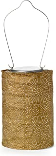 Allsop Home and Garden Soji Stella LED Outdoor Solar Lantern, Handmade with Weather-Resistant UV Treated Tyvek Fabric, Stainless Steel Hardware, Auto sensor on/off,  for Patio, Deck, Garden, Color (Bronze)