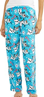 Briefly Stated Womens Gingerbread Man Santa and Peppermint Fleece Lounge Pants