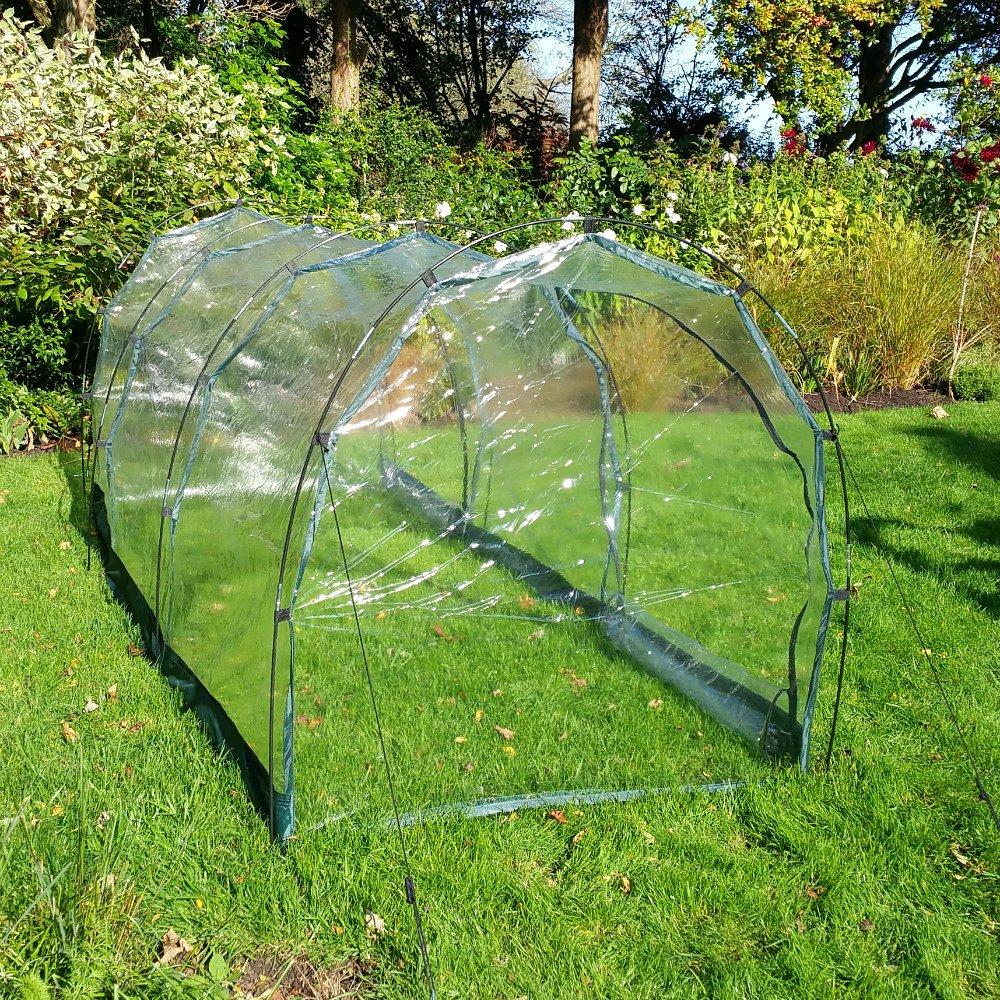 Calidad superior jardín Polytunnel 3 m re-usable invernadero longitud/EFECTOR - protección del clima y plagas: Amazon.es: Jardín