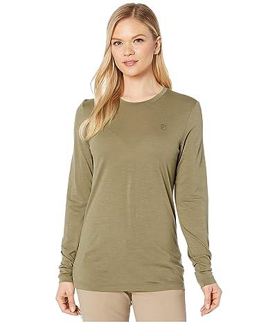 Fjallraven Abisko Wool Long Sleeve (Light Olive) Women