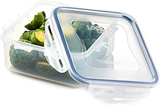 Lock & Lock Classic Stackable Airtight Square Food Container, 600ML