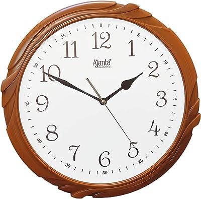 Ajanta Quartz Wood Finish Wall Clock (302X45X305 mm)