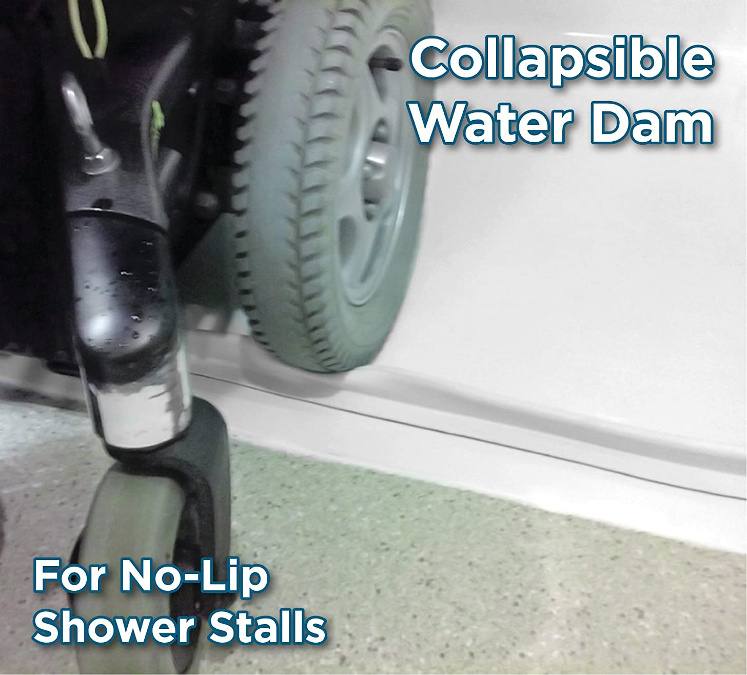 StayDry Systems Collapsible Water Dam (6) (Water Stopper, ADA Wheelchair Accessible Shower Threshold)