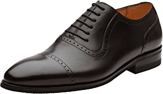 Handcrafted Men's Wingtip Brogue Genuine Leather Lined Perforated Oxfords Shoes