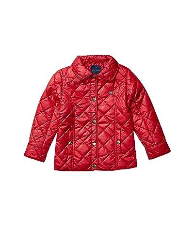 Tommy Hilfiger Kids Diamond Quilted Barn Jacket (Big Kids) (Scarlet Sage) Girl