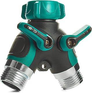 Trazon Water Splitter 2 Way, Garden Y Hose Connector Metal Body, Water Faucet Splitter..