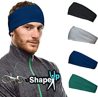 Cotton Workout Hairband Headband Sweatband with Keychain Moisture Absorbing Stretchy Sports Unisex Elastic Helmet Liner fo...