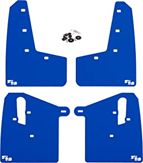 RokBlokz Mud Flaps for 2015+ Subaru WRX STI - Multiple Colors Available - Includes All Mounting Hardware (Deep Blue with White Logo, Original)