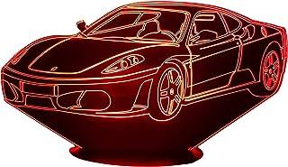 FER 430, Lampada illusione 3D con LED - 7 colori.