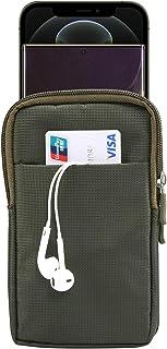 JIANGNI الرياضة الترفيه الرباط لوحة أفقي شنقا الخصر الهاتف حزمة حقيبة جلدية ، مناسبة للهواتف الذكية 6.6-6.0 بوصة