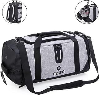 Sports Luggage Bag, Unisex Gym Travel Duffel Bag [36-55L Large Capacity] [Waterproof] Fitness Training Backpack Rucksack Crossbody Shoulder Bag Handbag with Shoe Compartment for Men Women