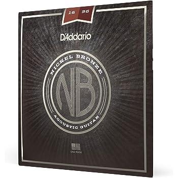 D'Addario Nickel Bronze Acoustic Guitar Strings, Resophonic Guitar, 16-56