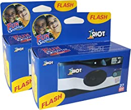 Disposable Camera 35mm Film Single Use One Shot Fun Shooter 400 ASA/ISO 27 Exposures with Flash 2-Pack