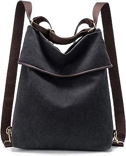 eine Tasche Rucksack Kombination JJones Gro/ße Damen Rucksack Handtasche aus Leder und Canvas