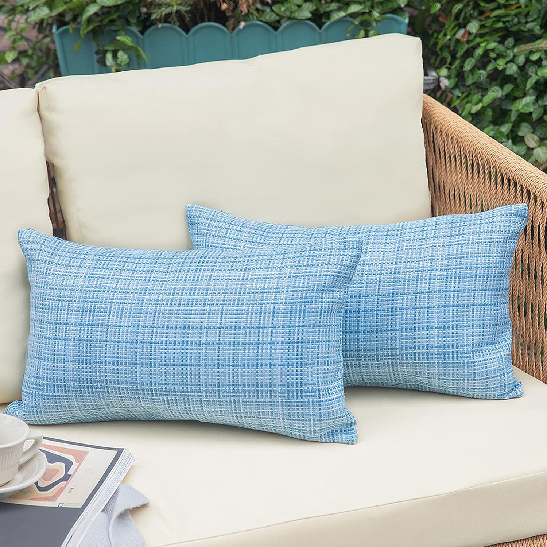 NEERYO quality assurance Outdoor Patio Lumbar Throw Special sale item - Waterproof Covers Dec Pillow