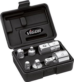 Vigor Zestaw adapterów napęd czworokątny (6,3 mm, 1/4 cala, 10 mm, 3/8 cala, 12,5 mm, 1/2 cala, 20 mm, 3/4 cala, 6-częścio...