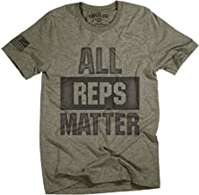 Superluxe Clothing Mens All Reps Matter American Flag Lifting Workout T-Shirt