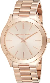Michael Kors Runway Women's Rose Gold Dial Stainless Steel Band Watch - MK3197