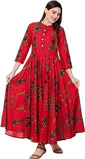 GULMOHAR JAIPUR Women's Cotton Printed Anarkali Kurta