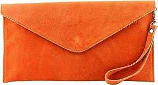 modamoda de - T106 - ital Clutch Abendtasche aus Wildleder